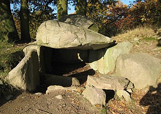 Rügen - One of many megalith sites on Rügen: the Lancken-Granitz dolmen