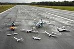 Group photo of aerial demonstrators at the 2005 Naval Unmanned Aerial Vehicle Air Demo.jpg