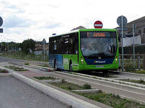 Cambridgeshire Guided Busway - A Go Whippet Route C bus leaving St Ives on 7 August 2011.