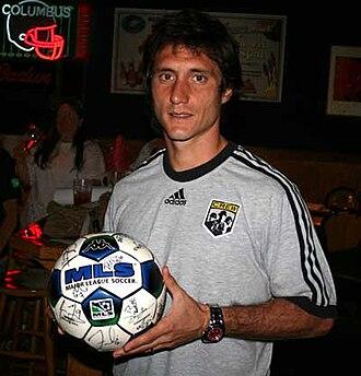 Guillermo Barros Schelotto - Barros Schelotto in 2007 at a Columbus Crew event