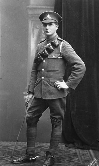Service Dress (British Army) - A gunner of the Royal Garrison Artillery in 1916 or 1917, wearing the 1903 Bandolier Equipment.