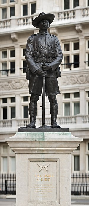 Limbu people - Gurkha Soldier Monument at London