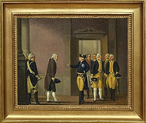 Swedish Revolution - Gustaf III at the Revolution of 1772.