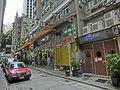 HK 灣仔 Wan Chai 麥加力歌街 McGregor Street sidewalk shop n carpark Taxi May-2014.JPG
