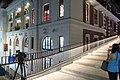HK Central night 舊中區警署 Ex-Central Police Station 奧卑利街 Old Bailey Street footbridge 荷李活道 Hollywood Road June 2018 IX2 大館 Tai Kwun 01.jpg