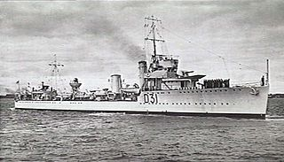 HMAS <i>Voyager</i> (D31) W class destroyer of the Royal Navy