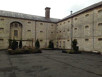 HM Prison Shepton Mallet - The exercise yard