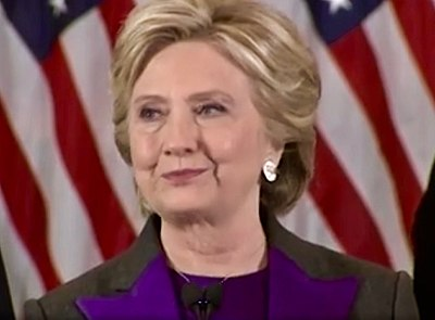 Clinton delivering her concession speech HRC 2016 concession speech 22.jpg