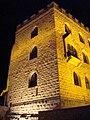 Hambacher Schloss bei Nacht, Detailansicht Südostecke.jpg