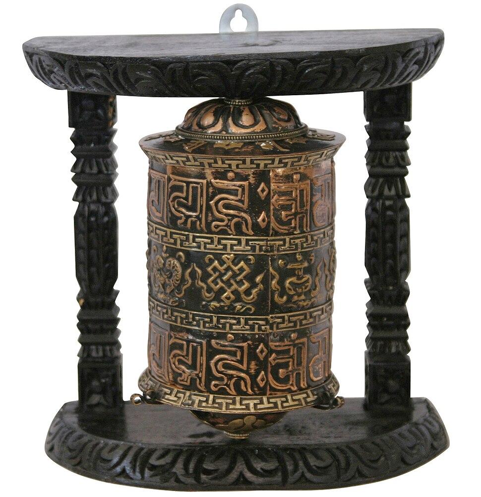 Hand made prayer wheel from Nepal