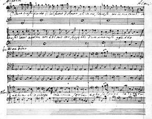 Lascia ch'io pianga - Image: Handel, Lascia ch'io pianga autograph score, 1711
