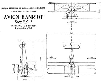 Hanriot HD.3 - Hanriot HD.3 C.2 drawing