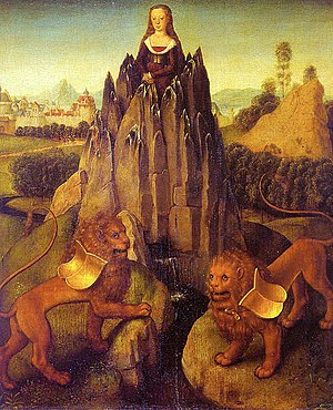 Allegory of chastity by Hans Memling