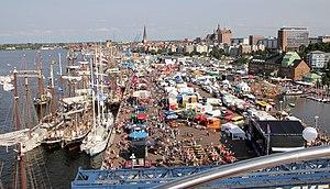 Regiopolis - Rostock city harbour during Hanse Sail