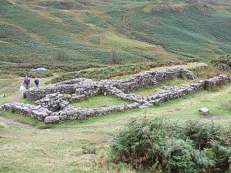 Hardknott Roman Fort - Bath house at Hardknott