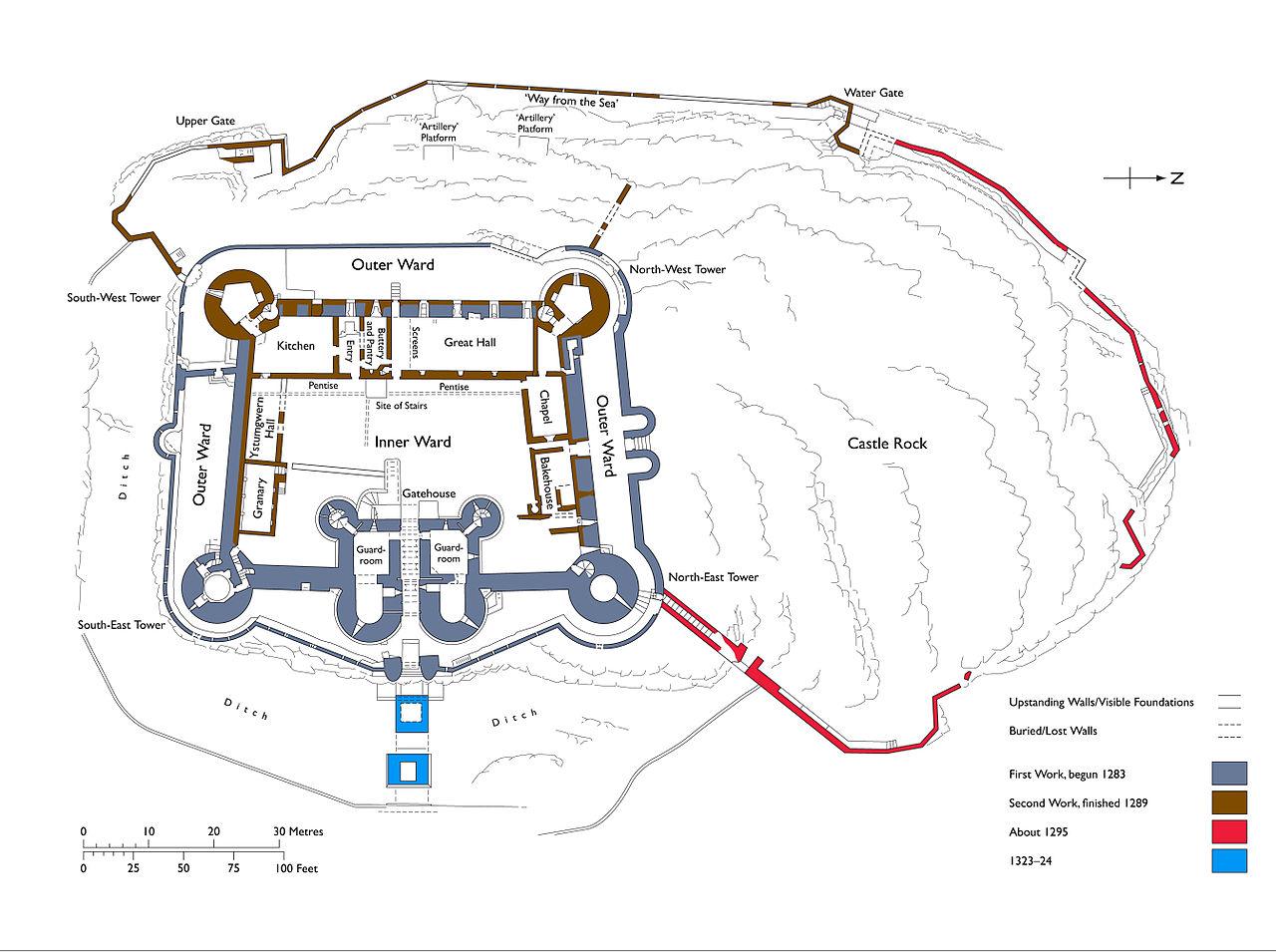 File:Harlech_Castle_Plan on Do Your Own Floor Plan