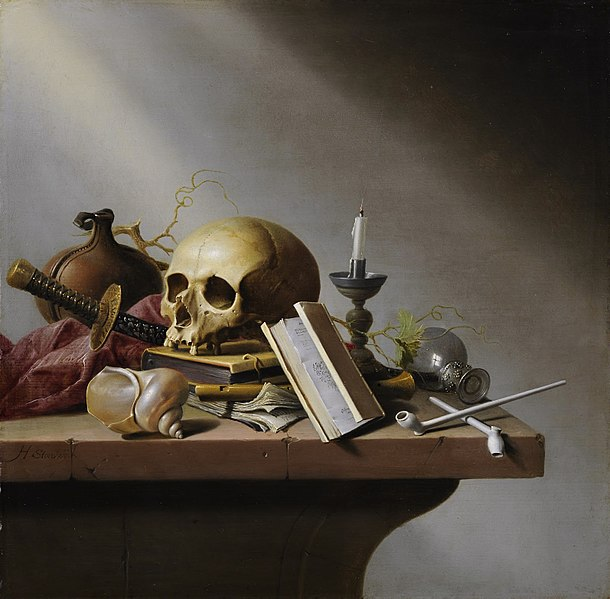 Steenwijck's Vanitas (1640)  [public domain] via Wikimedia Commons --  The Shakespeare Standard shakespeare news