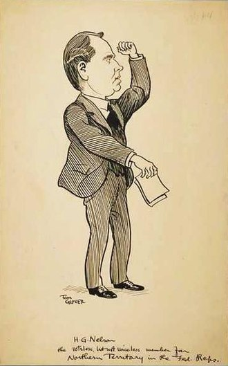 Harold George Nelson - Caricature of Nelson by Thomas Glover, 1923