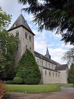 Hastière - St Hadelin abbeychurch today Wallonia's Major Heritage