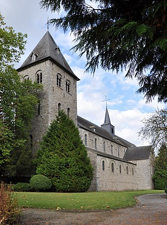 Hastière - St Hadelin abbeychurch today Wallonia's Major Heritage
