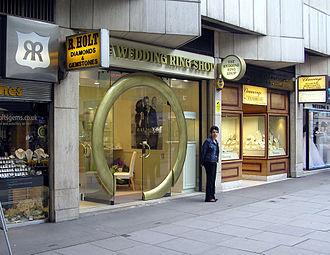 Hatton Garden - A ring shop in Hatton Garden