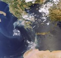 Haze of smoke in Greece on 27 August 2007 ESA229537.tiff