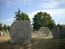 Heart-shaped tombstones in Balatonudvari.jpg