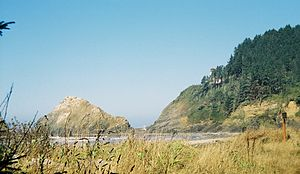 Lane County, Oregon - Heceta Head on the coastline of Lane County