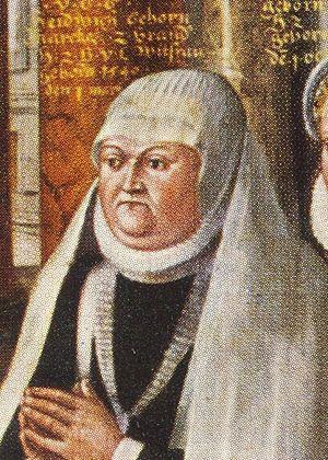 Hedwig of Brandenburg, Duchess of Brunswick-Wolfenbüttel - Hedwig of Brandenburg, Duchess of Brunswick-Wolfenbüttel, detail of a family portrait