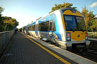 Transport in the United Kingdom - A Northern Ireland Railways train. The railway system in Northern Ireland is entirely state owned, unlike the railway service in Great Britain.