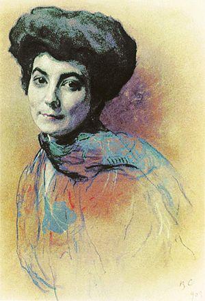 Rerikhism - Helena Roerich. 1909.  Valentin Serov