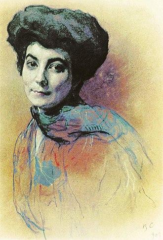 Roerichism - Helena Roerich, 1909   by Valentin Serov