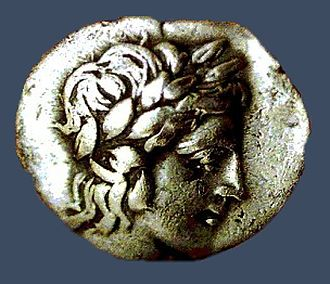 Helike - A coin from  Helike.