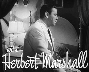 Herbert Marshall - Marshall in the trailer for The Letter (1940)