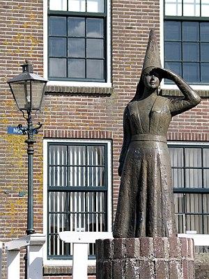Stavoren -  The Lady of Stavoren, 1969 statue.