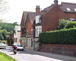 Bramley, Surrey - Image: High Street, Bramley opposite the Library geograph.org.uk 527410
