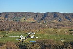 Hightown, Virginia - Hightown, looking east from Lantz Mountain