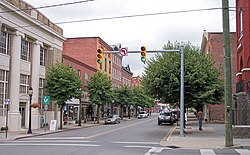 Temple Street in downtown Hinton in 2007