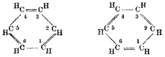 August Kekulé - Kekulé structure of benzene with alternating double bonds