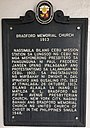 Historical marker of Bradford Memorial Church.jpg