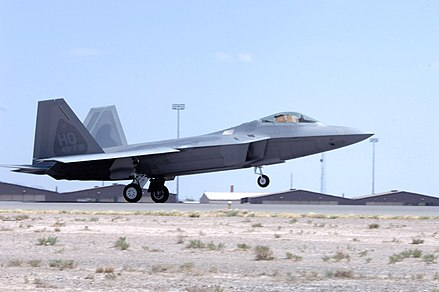 The F-22 Raptor is flown by the 49th Fighter Wing at Holloman AFB. Holloman AFB F-22.jpg