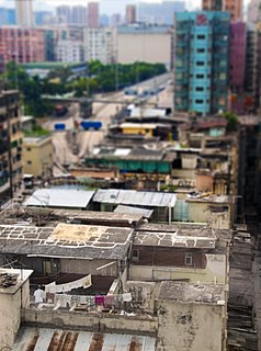 Rooftop slum Type of illegal housing