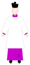 Honorary Prelate and Apostolic Protonotary Supernumerary - choir dress.svg