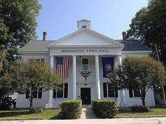 Hopkinton, New Hampshire - Image: Hopkinton NH Town Hall