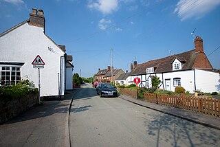 Hopwas village in United Kingdom
