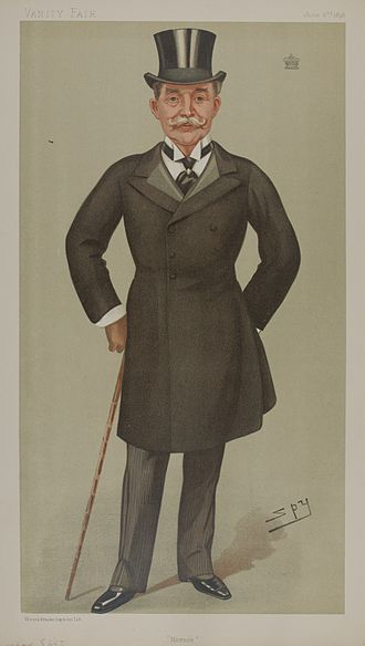 "Horace Farquhar, 1st Earl Farquhar - ""Horace"". Lord Farquhar as caricatured by Spy (Leslie Ward) in Vanity Fair, June 1898"