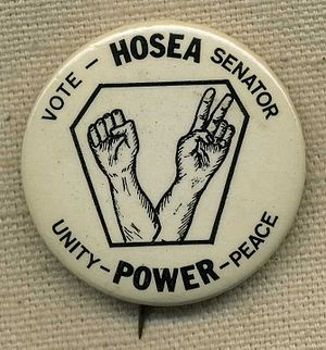 Hosea Williams - Campaign button used in Williams' 1972 primary race