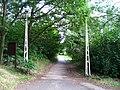 Hostivařský háj, brána pionýrského tábora.jpg