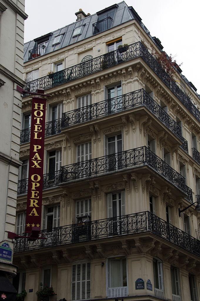 file hotel pax opera 47 rue de tr vise 75009 paris wikimedia commons. Black Bedroom Furniture Sets. Home Design Ideas