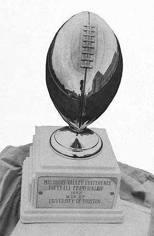 1952 Houston Cougars football team - Houston's 1952 Missouri Valley Conference championship trophy